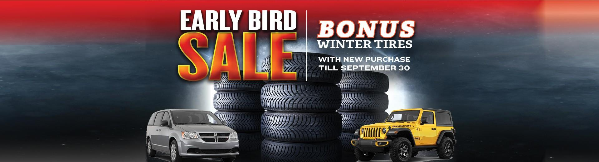 Early Bird Winter Tire Sale at Eastern Chrysler Dodge Jeep Ram in 1900 MAIN STREET